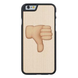 Funda De Arce Para iPhone 6 De Carved Pulgares abajo - Emoji