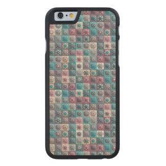 Funda De Arce Para iPhone 6 De Carved Remiendo del vintage con los elementos florales de