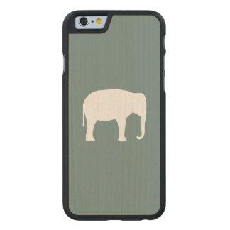 Funda De Arce Para iPhone 6 De Carved Silueta del elefante asiático