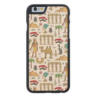 Funda De Arce Para iPhone 6 De Carved Símbolos del color del modelo de Egipto