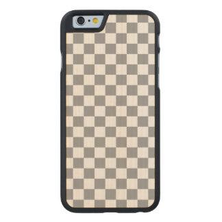 Funda De Arce Para iPhone 6 De Carved Tablero de damas gris