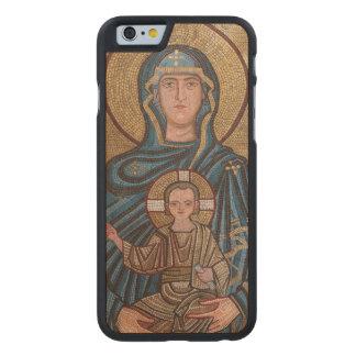 Funda De Arce Para iPhone 6 De Carved Virgen María y mosaico de Jesús
