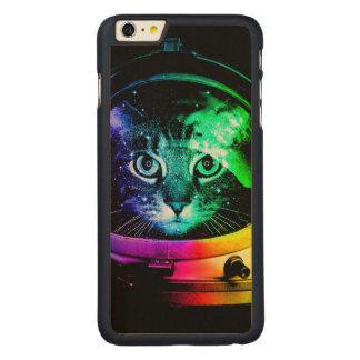 Funda De Arce Para iPhone 6 Plus De Carved Astronauta del gato - gato del espacio - gatos