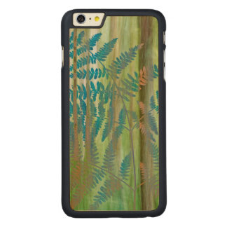 Funda De Arce Para iPhone 6 Plus De Carved Collage de los helechos y del bosque el | Seabeck,
