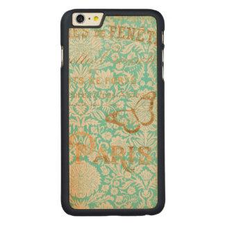 Funda De Arce Para iPhone 6 Plus De Carved Diseño del oro de París del vintage con la
