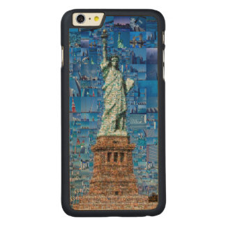 Funda De Arce Para iPhone 6 Plus De Carved estatua del collage de la libertad - estatua del