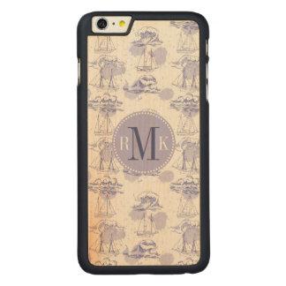 Funda De Arce Para iPhone 6 Plus De Carved La acuarela agita y envía el modelo
