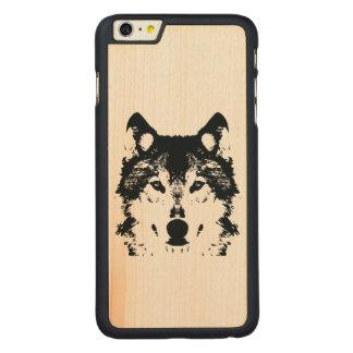 Funda De Arce Para iPhone 6 Plus De Carved Lobo negro del ilustracion