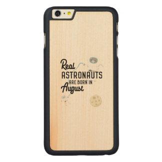 Funda De Arce Para iPhone 6 Plus De Carved Los astronautas son en agosto Ztw1w nacidos