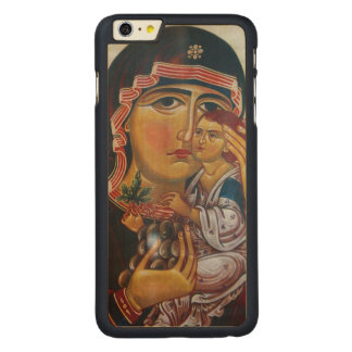 Funda De Arce Para iPhone 6 Plus De Carved Madre Maria y arte de Jesús