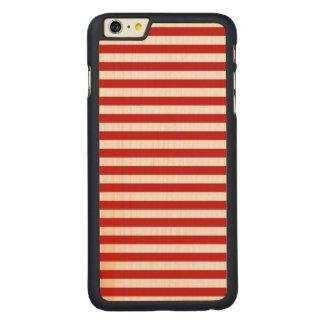 Funda De Arce Para iPhone 6 Plus De Carved Modelo rojo y blanco de la raya