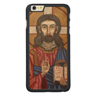Funda De Arce Para iPhone 6 Plus De Carved Mosaico antiguo de Jesús