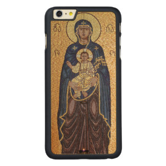 Funda De Arce Para iPhone 6 Plus De Carved Mosaico de Maria y de Jesús