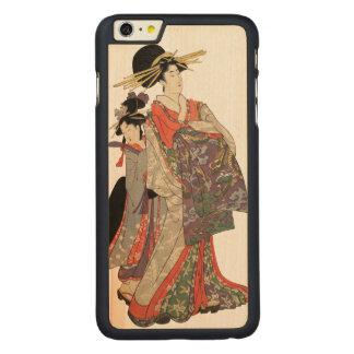 Funda De Arce Para iPhone 6 Plus De Carved Mujer en el kimono colorido (impresión del japonés