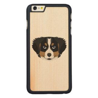 Funda De Arce Para iPhone 6 Plus De Carved Perro de montaña de Bernese del ilustracion
