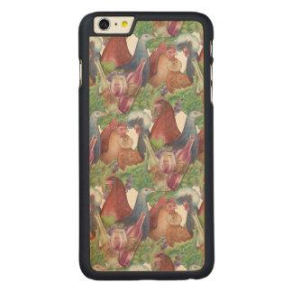 Funda De Arce Para iPhone 6 Plus De Carved Pollos y vino