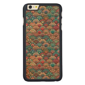 Funda De Arce Para iPhone 6 Plus De Carved Remiendo del vintage con los elementos florales de