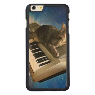 Funda De Arce Para iPhone 6 Plus De Carved teclado del gato