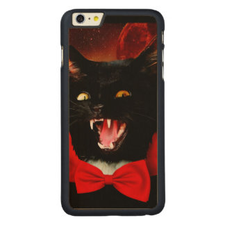 Funda De Arce Para iPhone 6 Plus De Carved vampiro del gato - gato negro - gatos divertidos