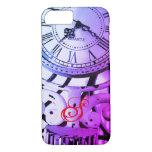 Funda Para iPhone 8/7 Reloj Steampunk Viejo Aspecto Azul Victoriano