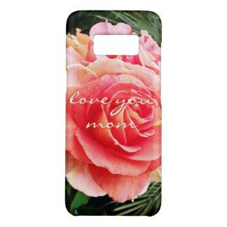 """Funda De Case-Mate Para Samsung Galaxy S8 """"Ámele foto color de rosa rosada suave del primer"""