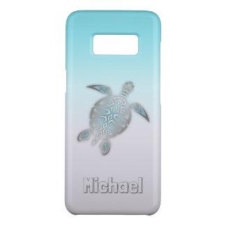 Funda De Case-Mate Para Samsung Galaxy S8 Animal de plata del monograma de las tortugas de