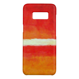 Funda De Case-Mate Para Samsung Galaxy S8 Arte abstracto moderno - blanco amarillo rojo
