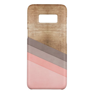 Funda De Case-Mate Para Samsung Galaxy S8 Arte geométrico de madera