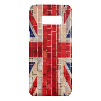 Funda De Case-Mate Para Samsung Galaxy S8 Bandera BRITÁNICA de Union Jack en una pared de