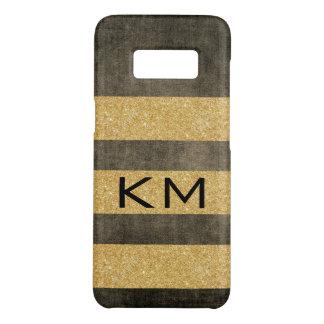 Funda De Case-Mate Para Samsung Galaxy S8 Brillo del oro con el monograma