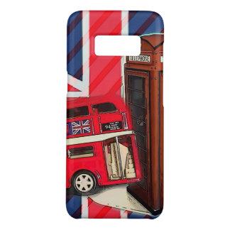 Funda De Case-Mate Para Samsung Galaxy S8 Cabina de teléfono roja del autobús retro de Union