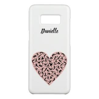 Funda De Case-Mate Para Samsung Galaxy S8 Caso rosado bonito de Samsung S8 del corazón de la