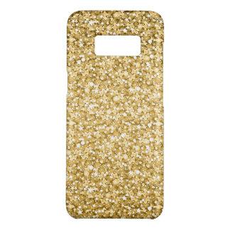 Funda De Case-Mate Para Samsung Galaxy S8 Chispas simples del blanco del brillo del oro