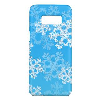 Funda De Case-Mate Para Samsung Galaxy S8 Copos de nieve lindos del navidad azul y blanco