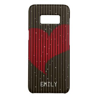 Funda De Case-Mate Para Samsung Galaxy S8 Corazón chispeante simple de las tarjetas del día