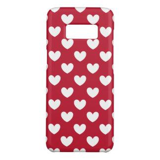 Funda De Case-Mate Para Samsung Galaxy S8 Corazones blancos y rojos de la polca