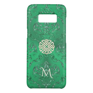 Funda De Case-Mate Para Samsung Galaxy S8 Damasco verde irlandés con el nudo del Celtic del