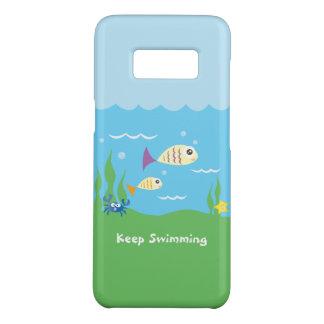 Funda De Case-Mate Para Samsung Galaxy S8 Divertido apenas guarde el nadar de pescados