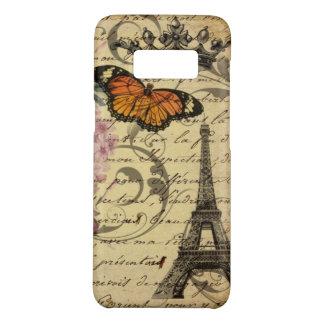 Funda De Case-Mate Para Samsung Galaxy S8 el arte botánico scripts la torre Eiffel de París
