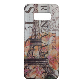 Funda De Case-Mate Para Samsung Galaxy S8 el francés scripts la torre Eiffel femenina de