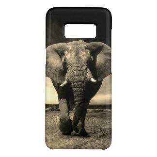 Funda De Case-Mate Para Samsung Galaxy S8 Elefante de Bull salvaje majestuoso en sepia