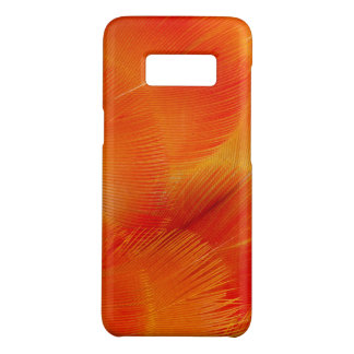 Funda De Case-Mate Para Samsung Galaxy S8 Extracto anaranjado de la pluma del Macaw de