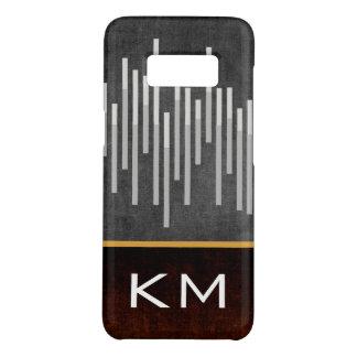 Funda De Case-Mate Para Samsung Galaxy S8 Extracto de las barras negras con el monograma