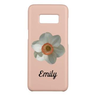 Funda De Case-Mate Para Samsung Galaxy S8 Flor hermosa de la primavera del narciso rosado