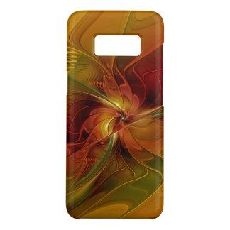 Funda De Case-Mate Para Samsung Galaxy S8 Flor verde anaranjada roja abstracta del arte del