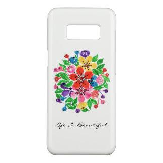 Funda De Case-Mate Para Samsung Galaxy S8 Flores del arco iris de la acuarela