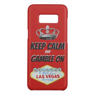 Funda De Case-Mate Para Samsung Galaxy S8 Guarde la buena suerte tranquila de Las Vegas