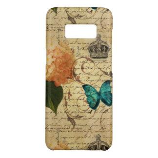 Funda De Case-Mate Para Samsung Galaxy S8 hydrangea botánico francés de la mariposa del arte