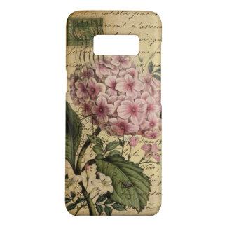 Funda De Case-Mate Para Samsung Galaxy S8 Hydrangea botánico francés del arte de la corona