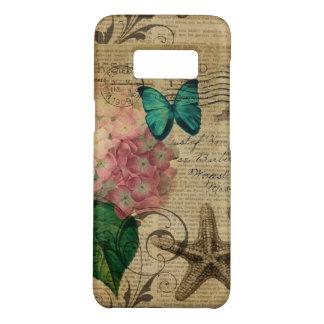 Funda De Case-Mate Para Samsung Galaxy S8 Hydrangea floral del seashell botánico francés del